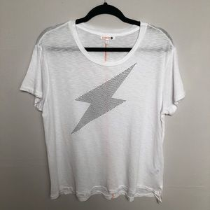 Sundry Lightning Bolt Embellished Graphic Tee Sz 2